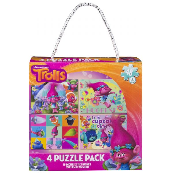 Trolls 4 Puzzle Pack (48 Pieces)
