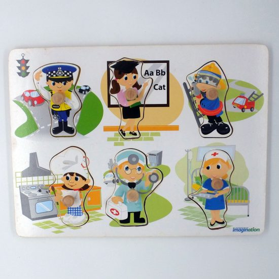Occupations Wooden Puzzle  (6 Pieces)