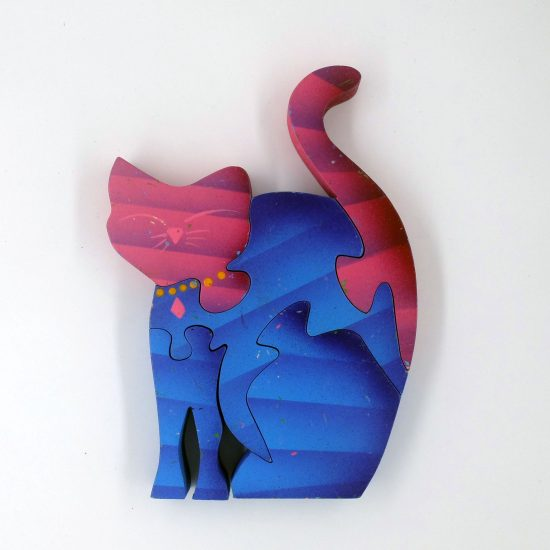 Sitting Cat Wooden Puzzle  (5 Pieces)