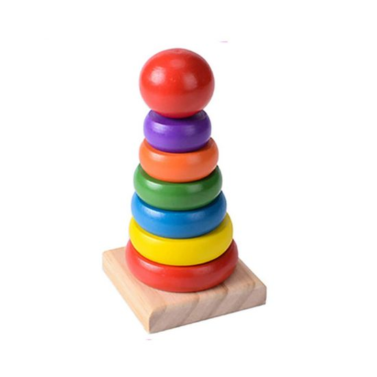 Wooden Rainbow Ring Tower