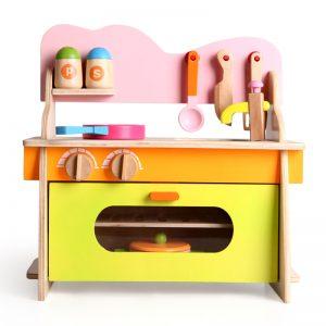 Wooden Kitchen Toy Set