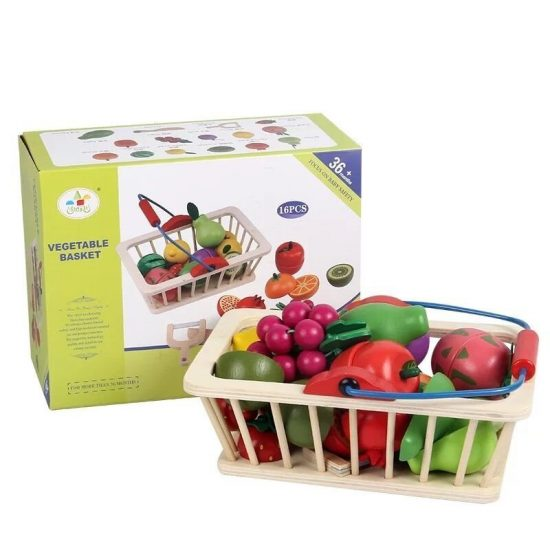 Cutting Fruit/Vegetable Basket (16 Pieces)