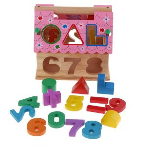 Wooden Shape Sorting House