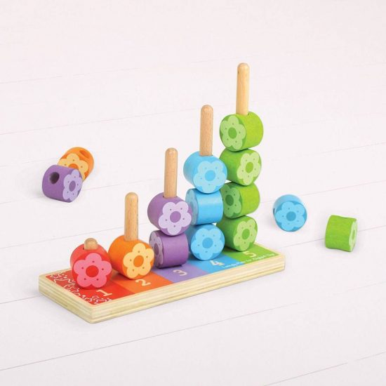 Wooden Flower Stacking Stacker Tower