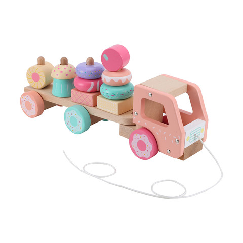 Wooden Stack Sweet Truck