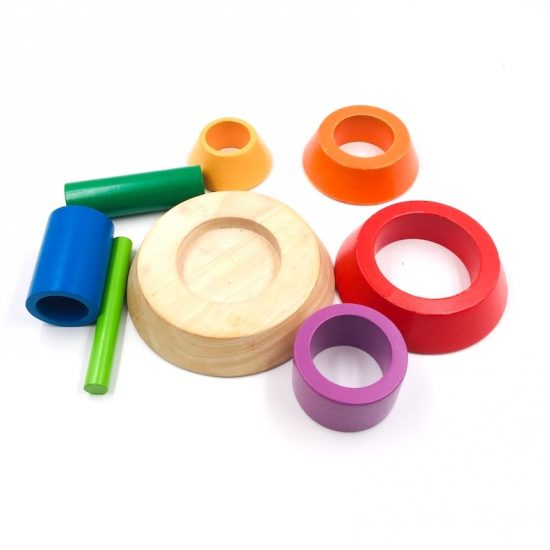 Shapes and colors wooden Blocks