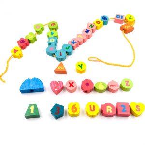 Wooden Threading Toy Alphabets