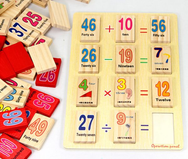 Wooden Maths Numbers Activity Set